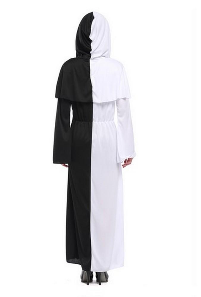 Costume-carnevale-Halloween-travestimento-vestito-bianco-nero-cosplay-festa