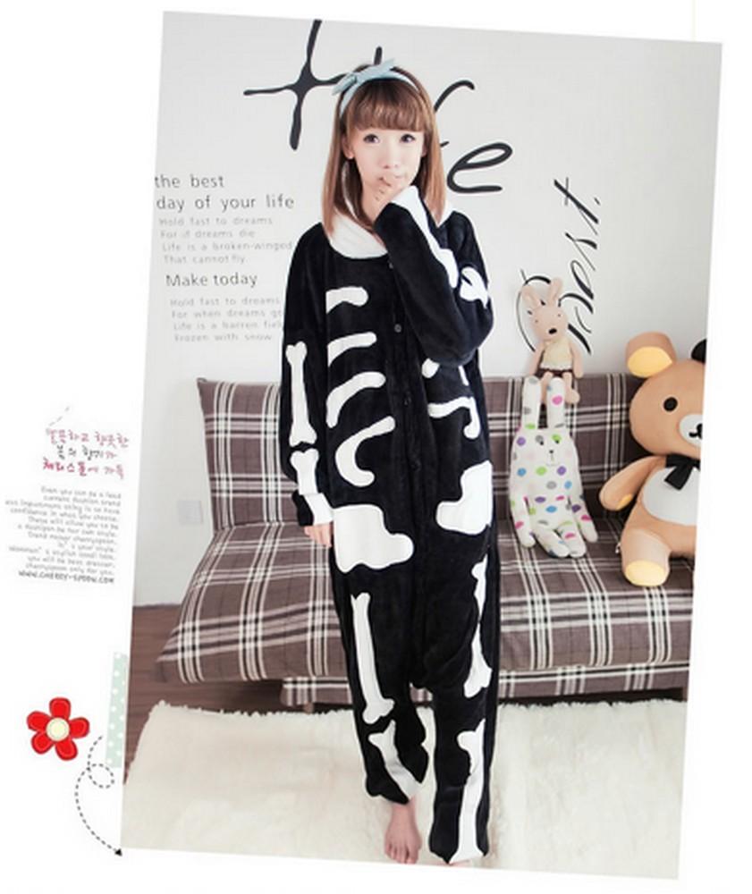 pigiama-animale-kigurumi-SCHELETRO-costume-carnevale-Halloween-festa-cosplay-in