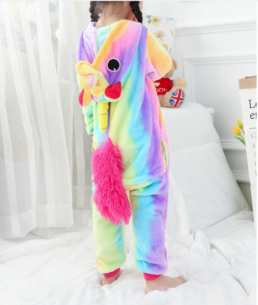 Emmarcon-pigiama-intero-animale-kigurumi-da-bambini-stella-arcobaleno-chiusura-i miniatura 7