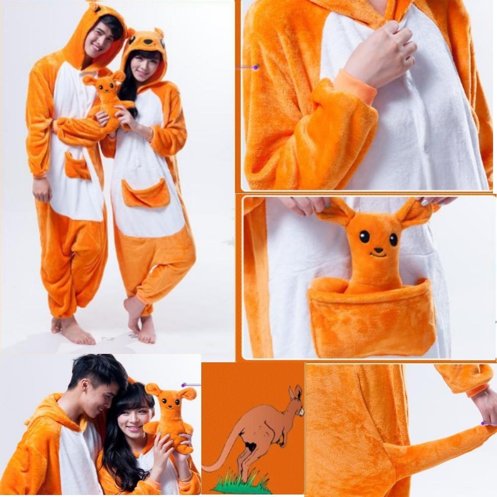pigiama-kigurumi-animali-intero-tuta-costume-carnevale-Halloween-festa-cosplay miniatura 18