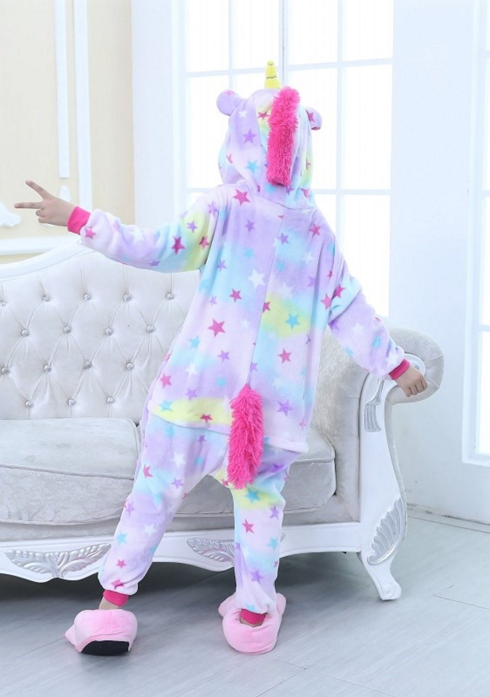 Emmarcon-pigiama-intero-animale-kigurumi-da-bambini-stella-arcobaleno-chiusura-i miniatura 71