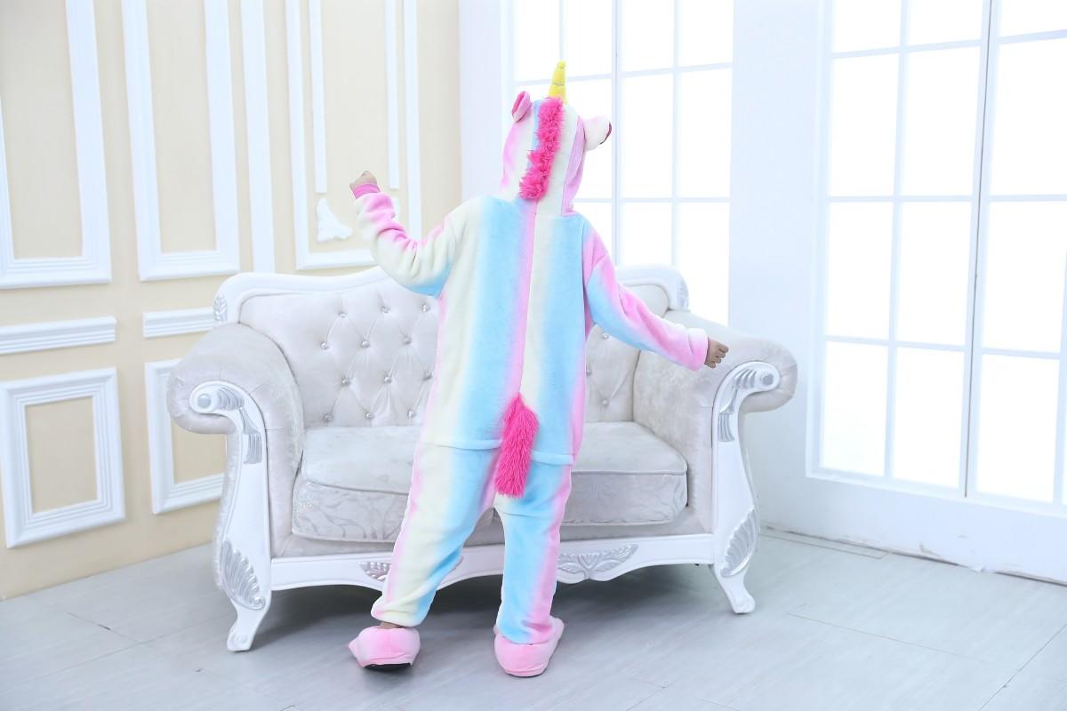 Emmarcon-pigiama-intero-animale-kigurumi-da-bambini-stella-arcobaleno-chiusura-i miniatura 9