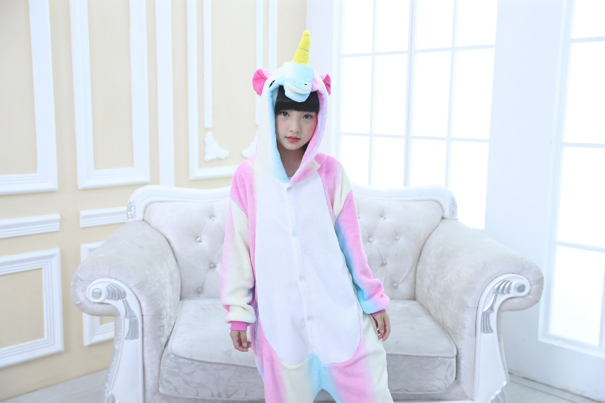 Emmarcon-pigiama-intero-animale-kigurumi-da-bambini-stella-arcobaleno-chiusura-i miniatura 11