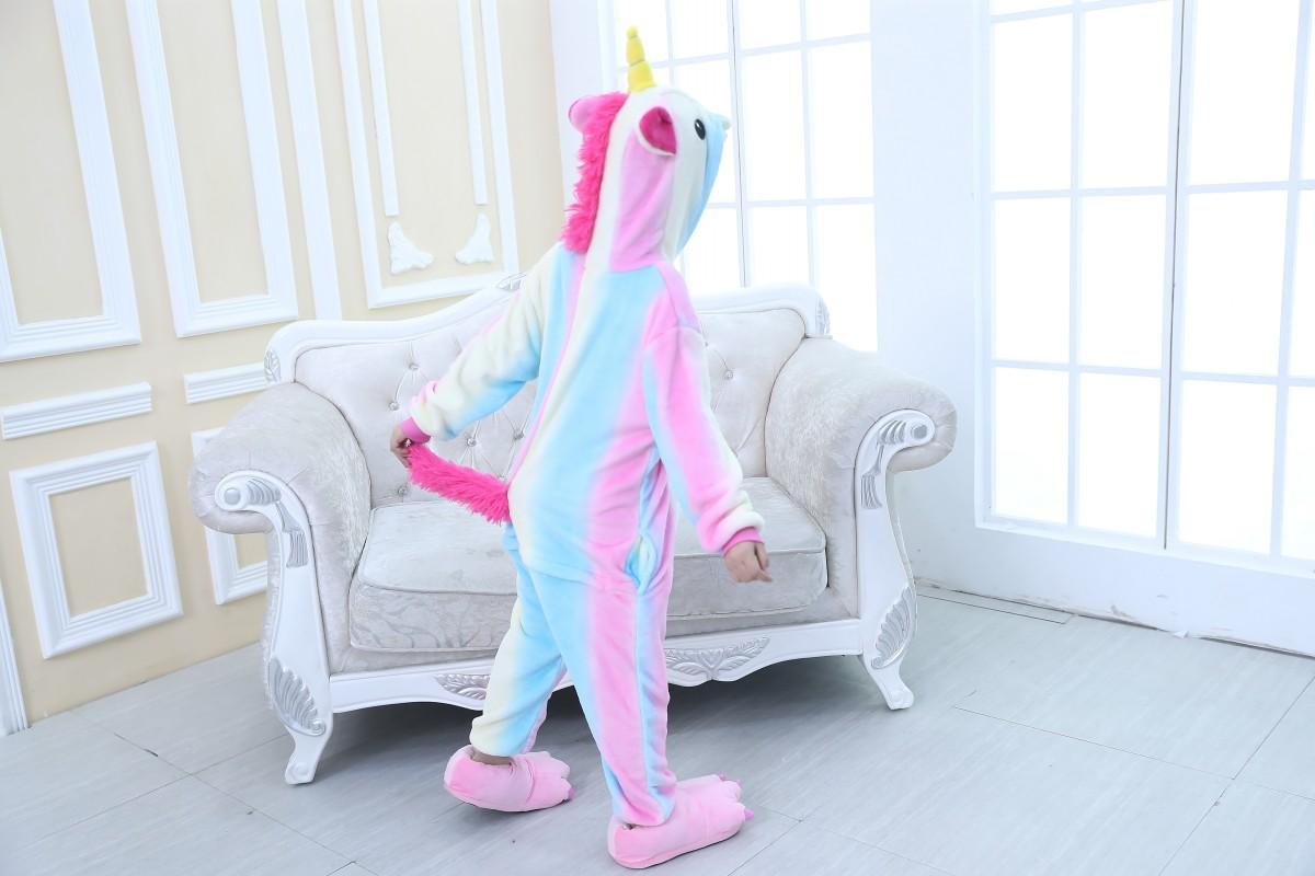 Emmarcon-pigiama-intero-animale-kigurumi-da-bambini-stella-arcobaleno-chiusura-i miniatura 12
