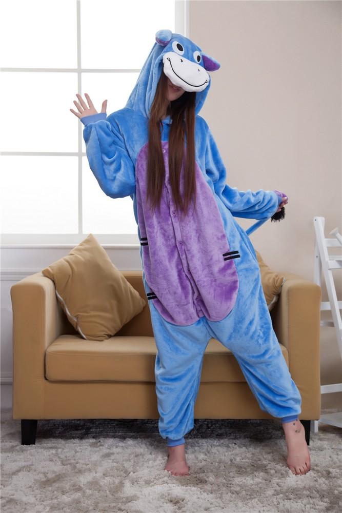 pigiama-kigurumi-animali-intero-tuta-costume-carnevale-Halloween-festa-cosplay miniatura 60