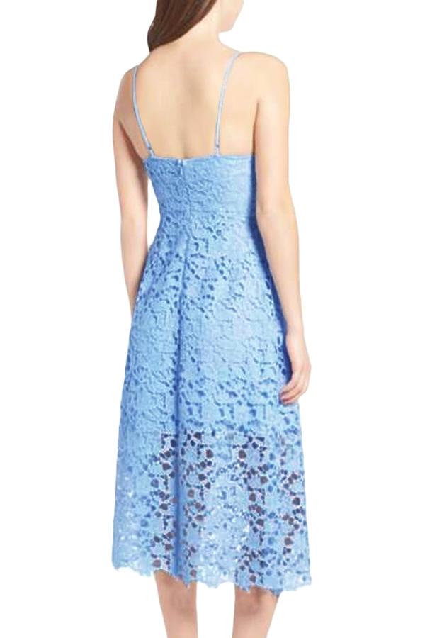 a546f10a7e5d3 Sexy elegante abito vestito cerimonia da donna in pizzo scollo a V ...