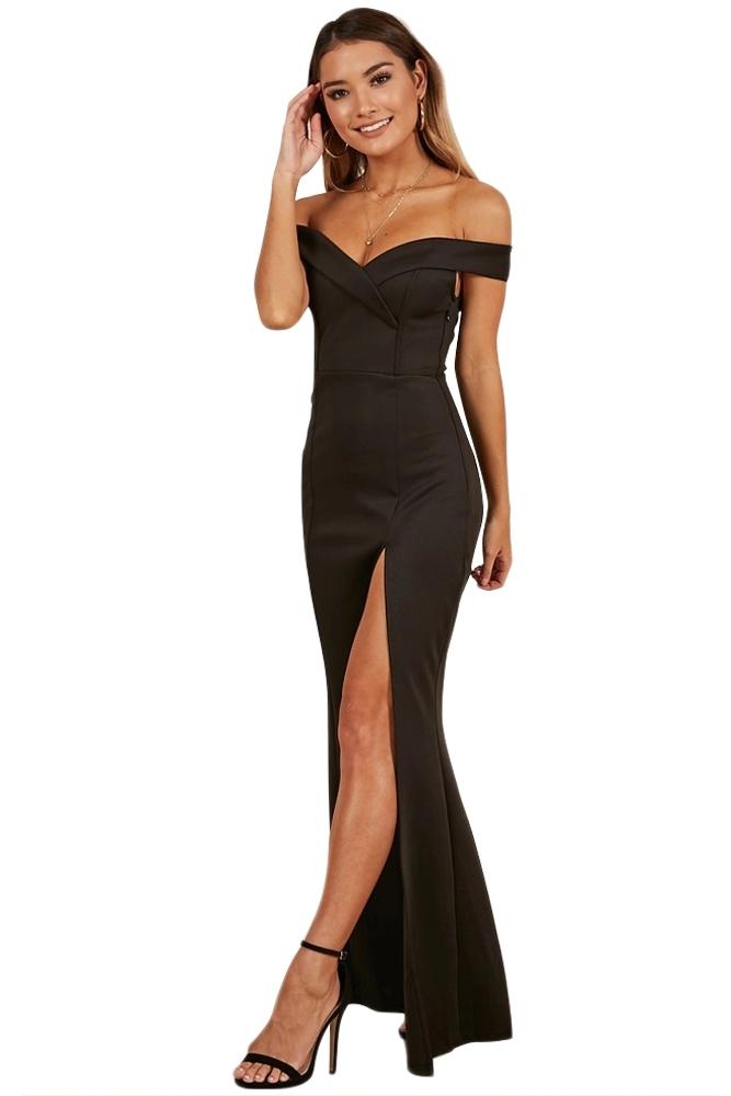 wholesale dealer 2fcda e62c5 Dettagli su abito lungo donna cerimonia party con spacco scollo a cuore  vestito sera
