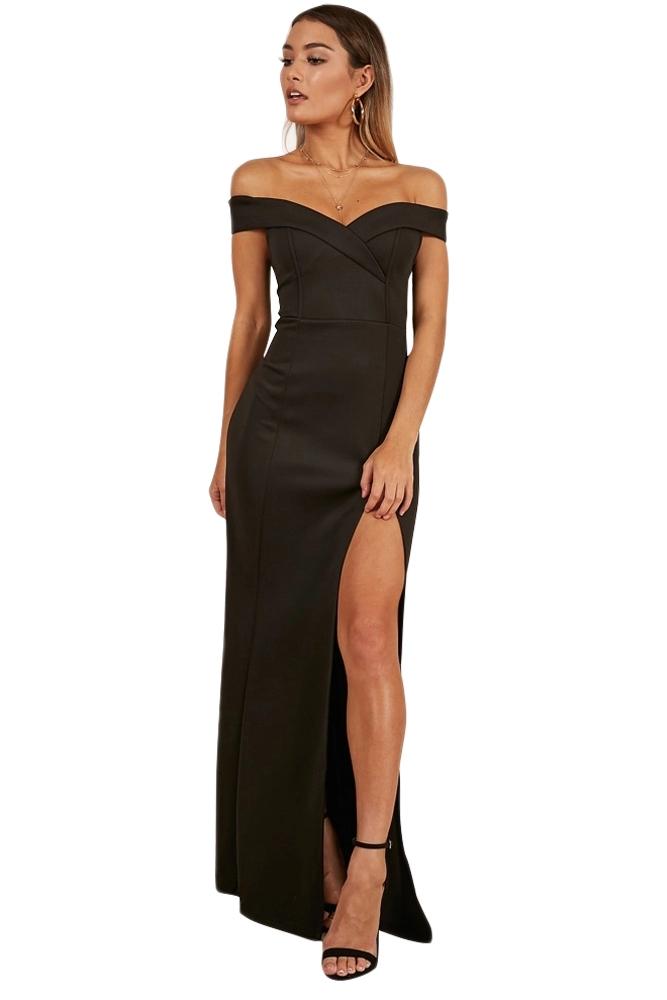 wholesale dealer dd5dc d9e8e Dettagli su abito lungo donna cerimonia party con spacco scollo a cuore  vestito sera