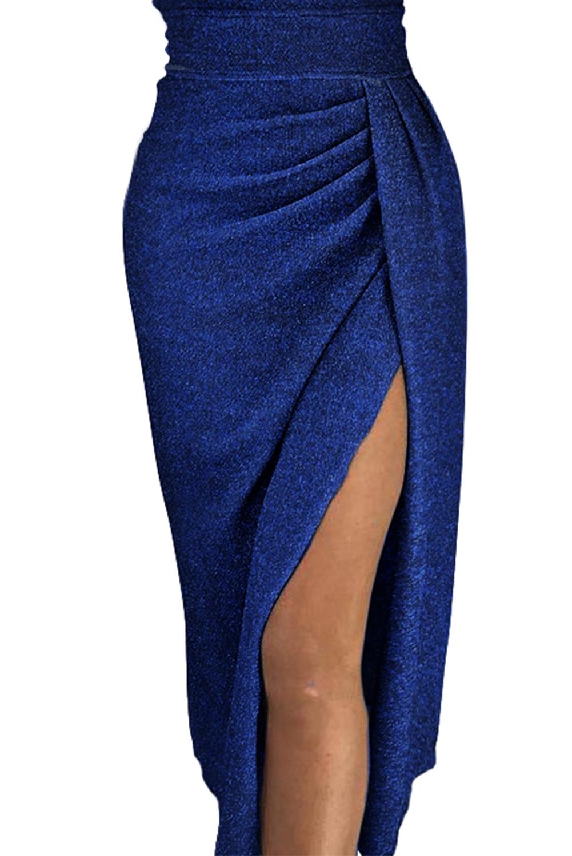 abito-lungo-cerimonia-donna-con-spacco-scollatura-a-barchetta-e-arricciatura miniatura 7
