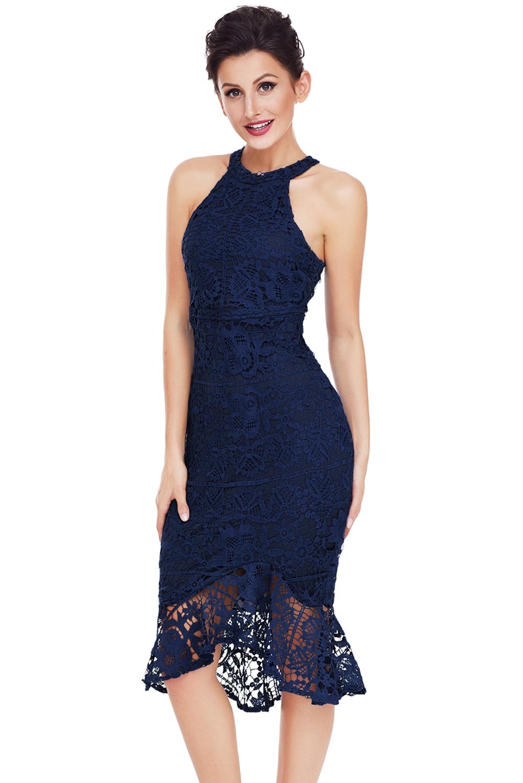 outlet store 50916 d802a Dettagli su elegante mini abito cerimonia da donna vestito tubino in pizzo  da sera party