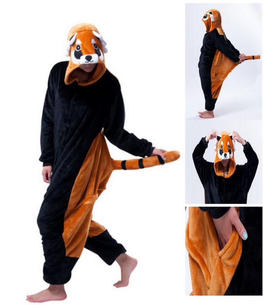 pigiama-kigurumi-animali-intero-tuta-costume-carnevale-Halloween-festa-cosplay miniatura 136