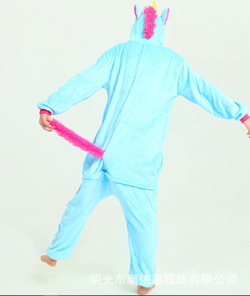 pigiama-kigurumi-animali-intero-tuta-costume-carnevale-Halloween-festa-cosplay miniatura 181