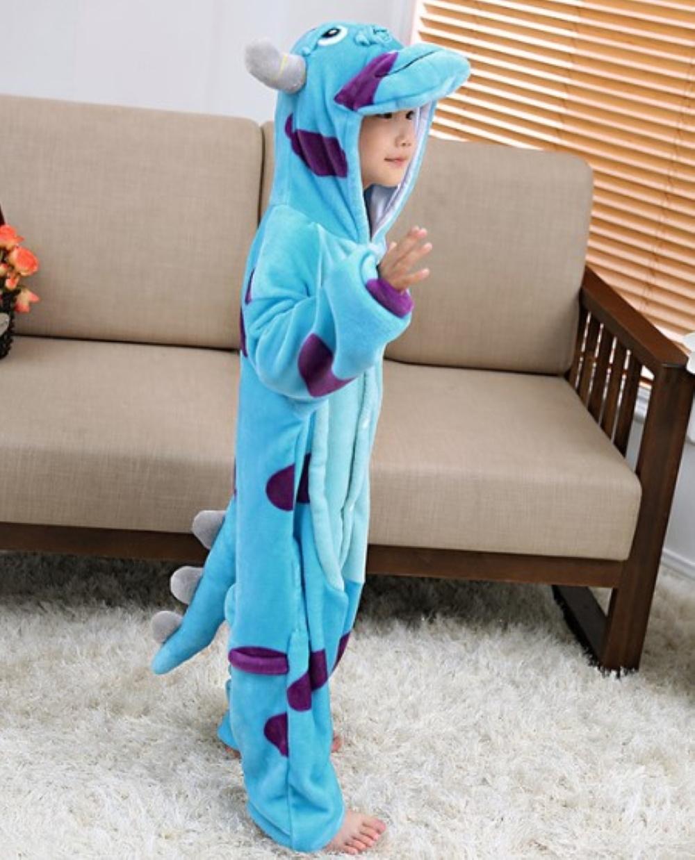 Emmarcon-pigiama-intero-animale-kigurumi-da-bambini-stella-arcobaleno-chiusura-i miniatura 48