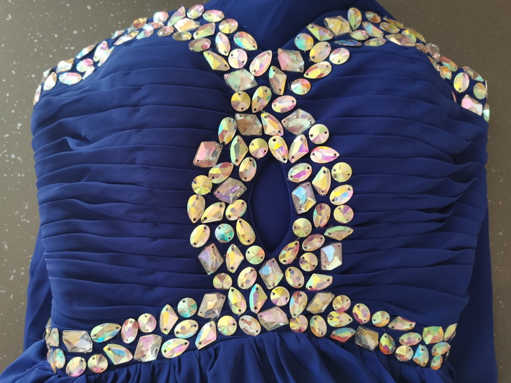 abito-da-cerimonia-donna-in-chiffon-damigella-vestito-lungo-elegante-festa-party miniatura 4