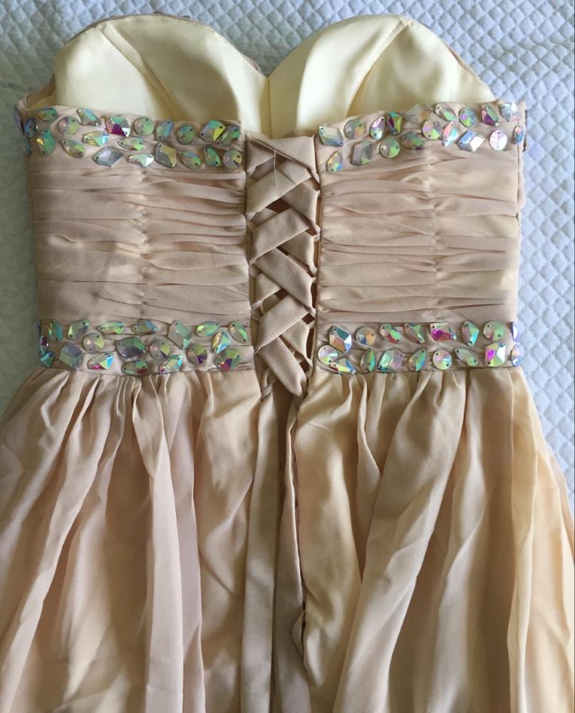 abito-da-cerimonia-donna-in-chiffon-damigella-vestito-lungo-elegante-festa-party miniatura 7