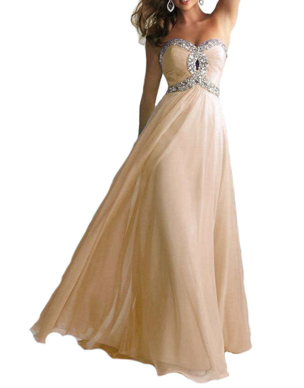 abito da cerimonia donna in chiffon damigella vestito lungo elegante ... 7922e16f264