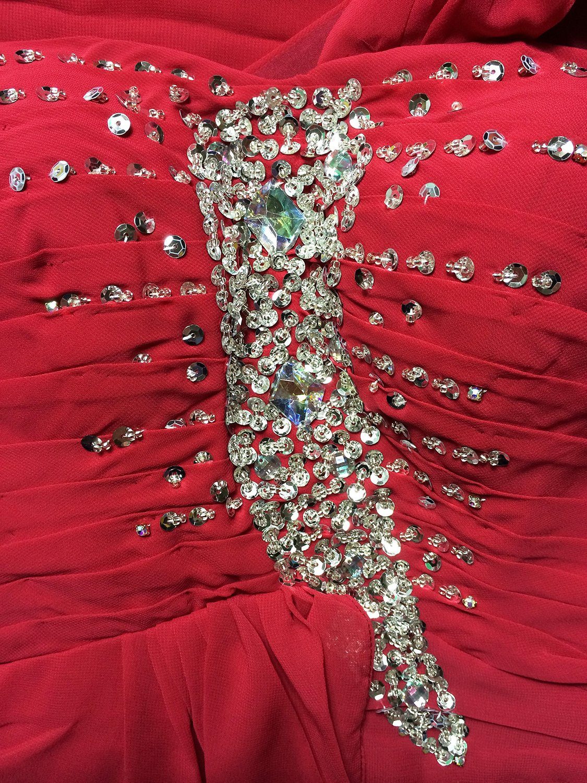 abito-da-cerimonia-donna-in-chiffon-damigella-vestito-lungo-elegante-festa-party miniatura 10